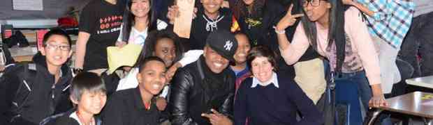 4 NEW PHOTOS! Ne-Yo Visits Seattle Middle School...As 'Principal For A Day!'