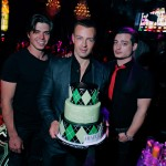 Joey Lawrence flanked by his brothers (from left) Matthew and Andrew. (David Becker/WireImage)
