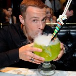 "Joey Lawrence downs a ""Lollipop Passion Goblet"" at the Sugar Factory at the Paris Las Vegas (David Becker/WireImage)"