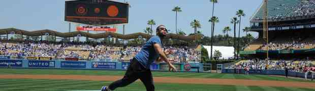 5 New Photos! Wilmer Valderrama Throws The First Pitch At 'Viva Los Dodgers Day!'