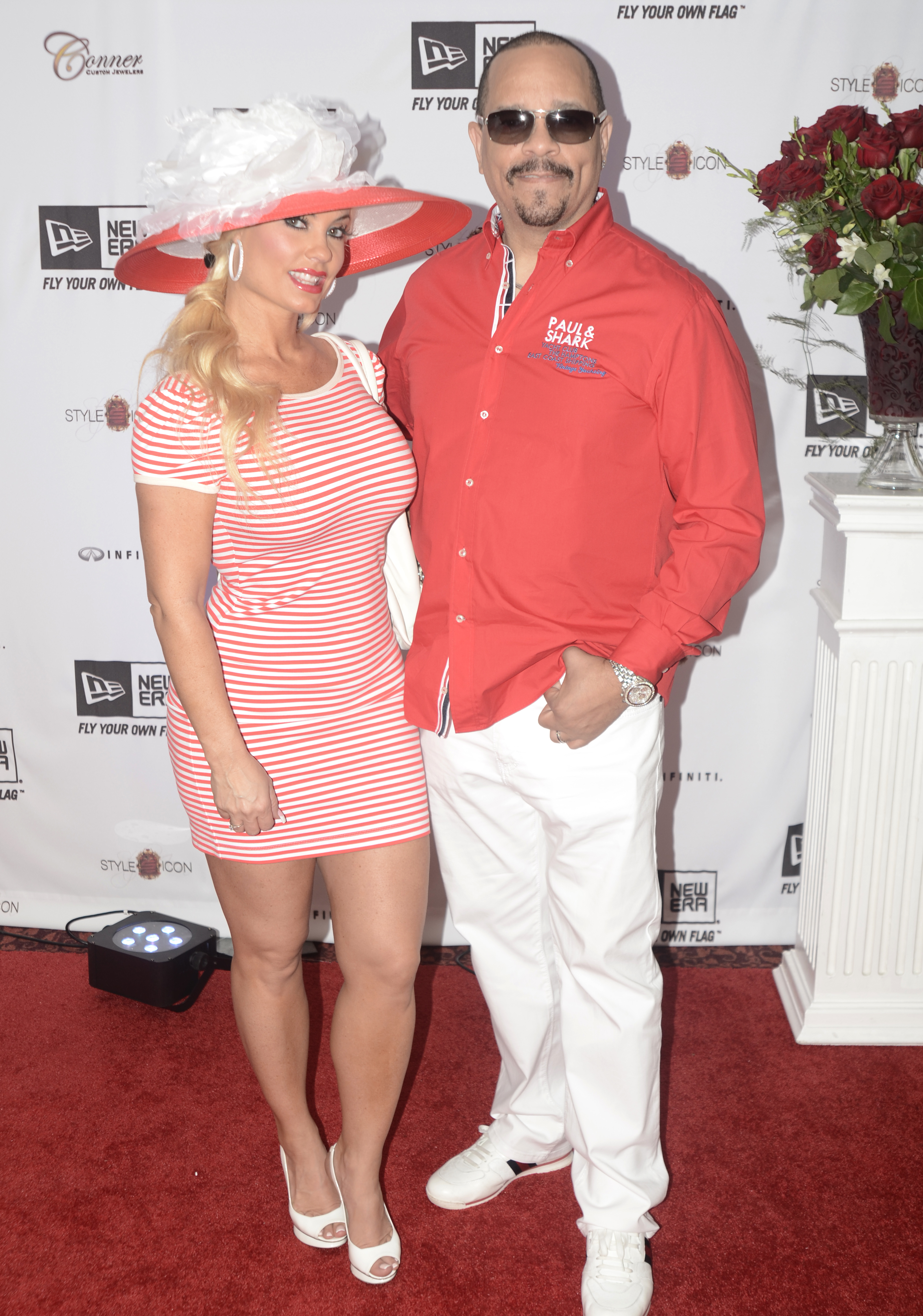 """Ice Loves Coco"" stars Coco and Ice T at the Kentucy Derby's Style Icon Luxury Gifting suite, presented by New Era at the Galt House."