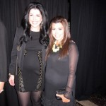 Kourtney Kardashian and her SNL lookalike at the E! Upfronts (KhloeKardashian.Celebuzz.com)