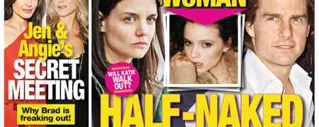 Tom Cruise Caught 'Half-Naked In Bed' ... But Not With Katie Holmes: National Enquirer