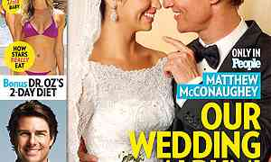 Matthew McConaughey & Camila Alves Wedding Photo!