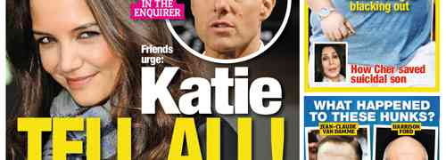 New 'National Enquirer' Cover: Katie Holmes Is In Therapy....Plus, Chaz Bono's Weight Balloons To 345 Pounds!