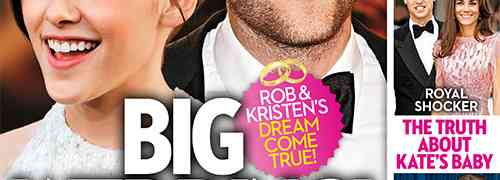 New 'OK' Magazine Cover: Robert Pattinson & Kristen Stewart....They're Getting Married (Again & Again & Again)