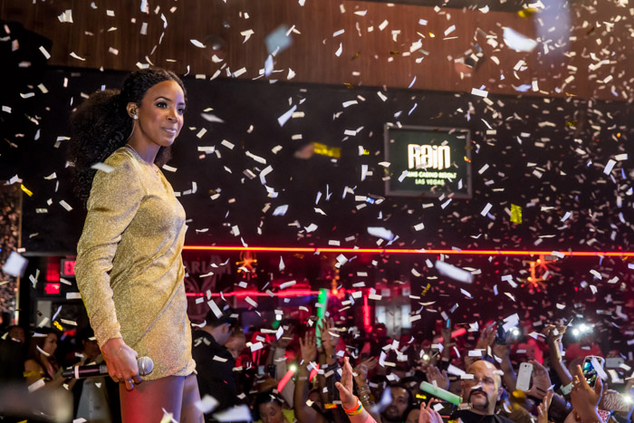 Kelly Rowland performs  at Rain nightclub  in Palms Casino Resort in Las Vegas (Erik Kabik)