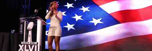 VIDEO: Watch Beyonce Sing National Anthem (Live!) At Super Bowl Press Conference