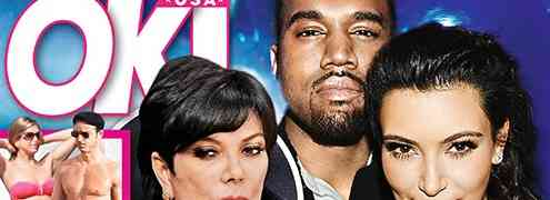 NEW 'OK' COVER: Kanye West Driving Wedge Between Kim Kardashian & Kris Jenner