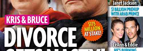 NEW 'STAR' COVER: Kris Jenner & Bruce Jenner's Divorce War?