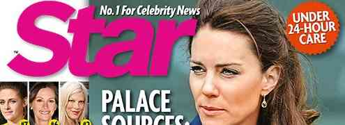 NEW 'STAR' COVER: Kate Middleton's Health Worries Palace