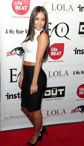 Bruno Mars' girlfriend, model/actress Jessica Caban at EQ Enterprises' New York  Fashion Week kick-off party on Feb. 6 at XL Nightclub (Harlem Pix Photography)