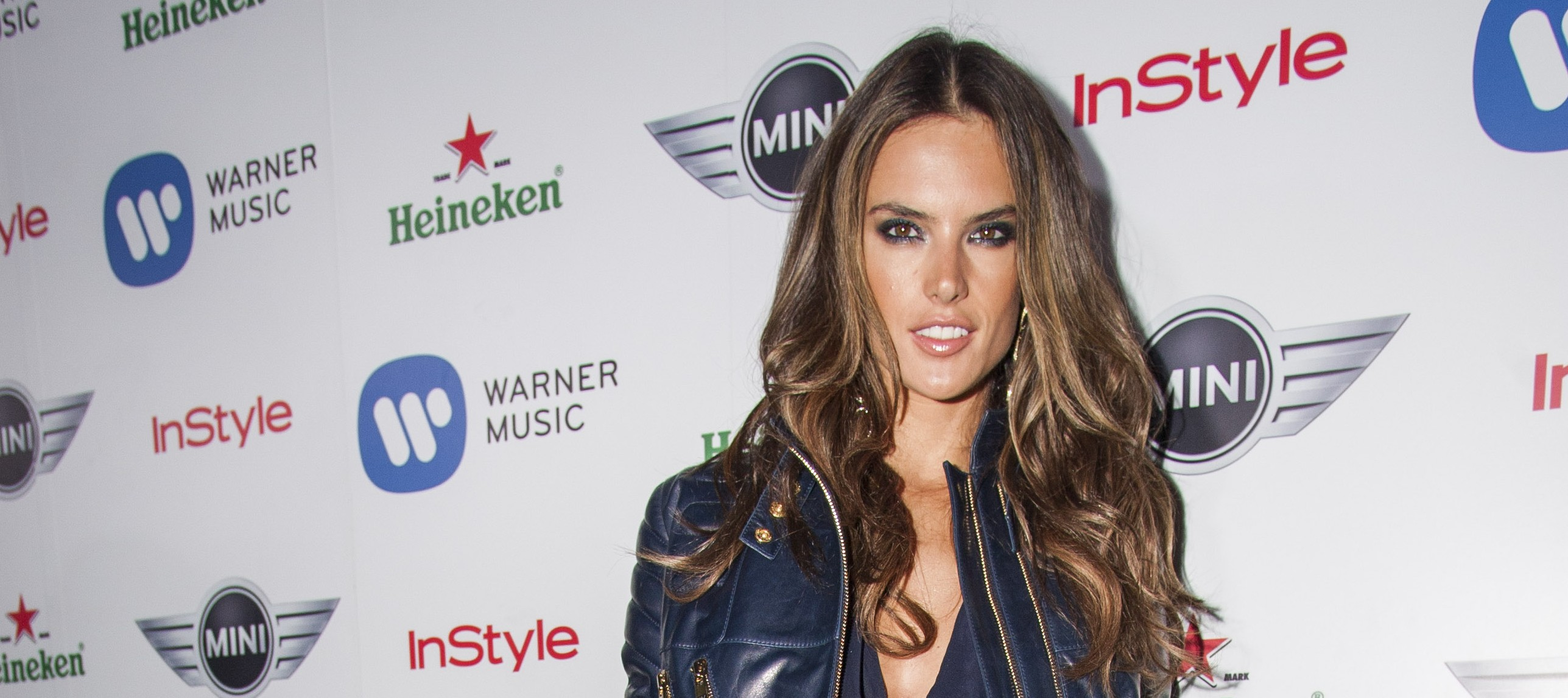 Alessandra Ambrosio at the Warner Music Grammy Party, sponsored by Heineken, at the Chateau Marmont in L.A. on Feb. 10.