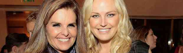 3 PARTY PHOTOS: Maria Shriver & Makin Akerman Chat It Up At Bevery Hills Bash
