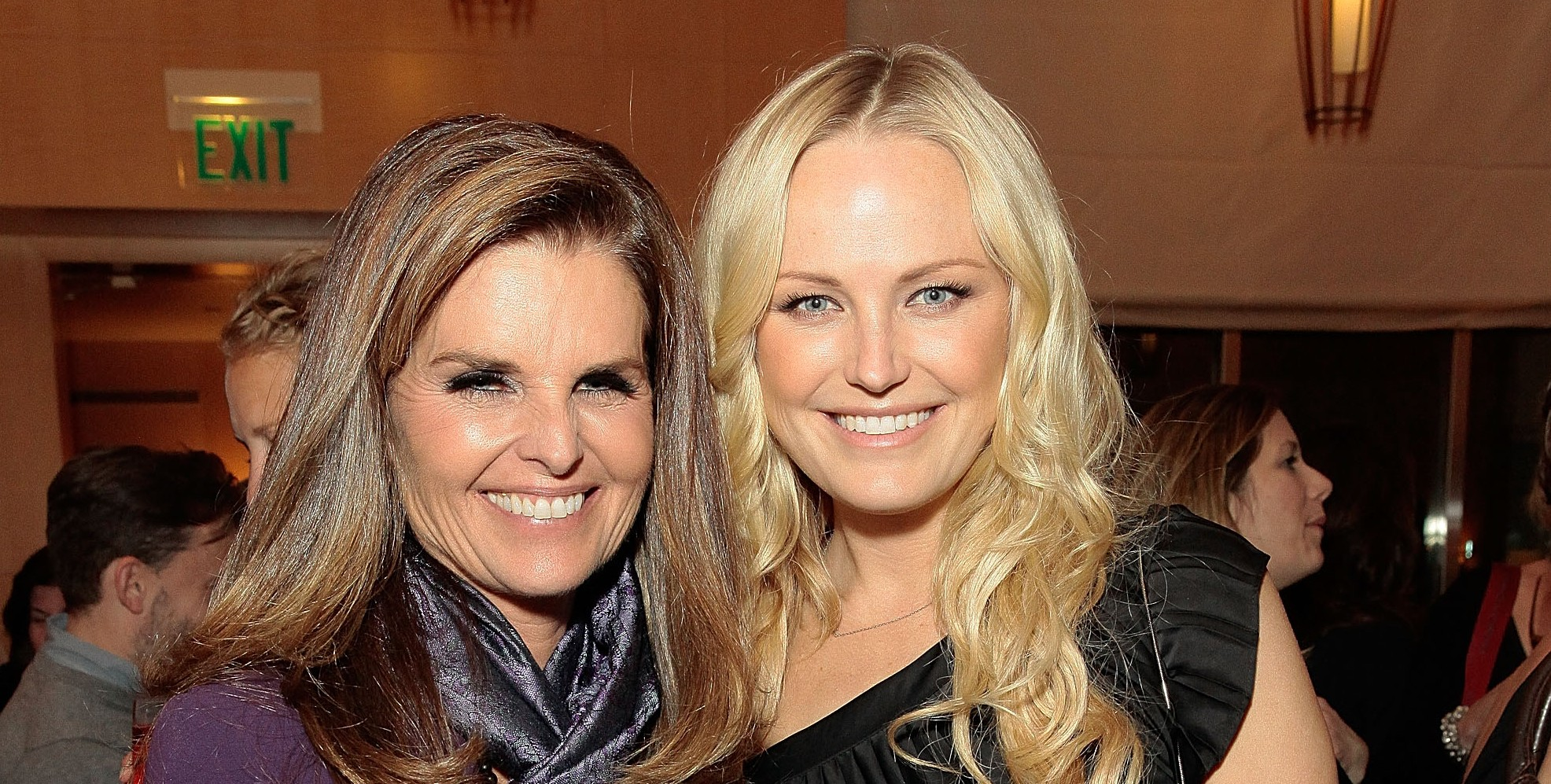 Maria Shriver and Malin Akerman attend Games For Change presents Half The Sky Movement: The Game pre-launch event at L'Ermitage Beverly Hills Hotel Feb. 26. (Mike Windle/Getty Images)