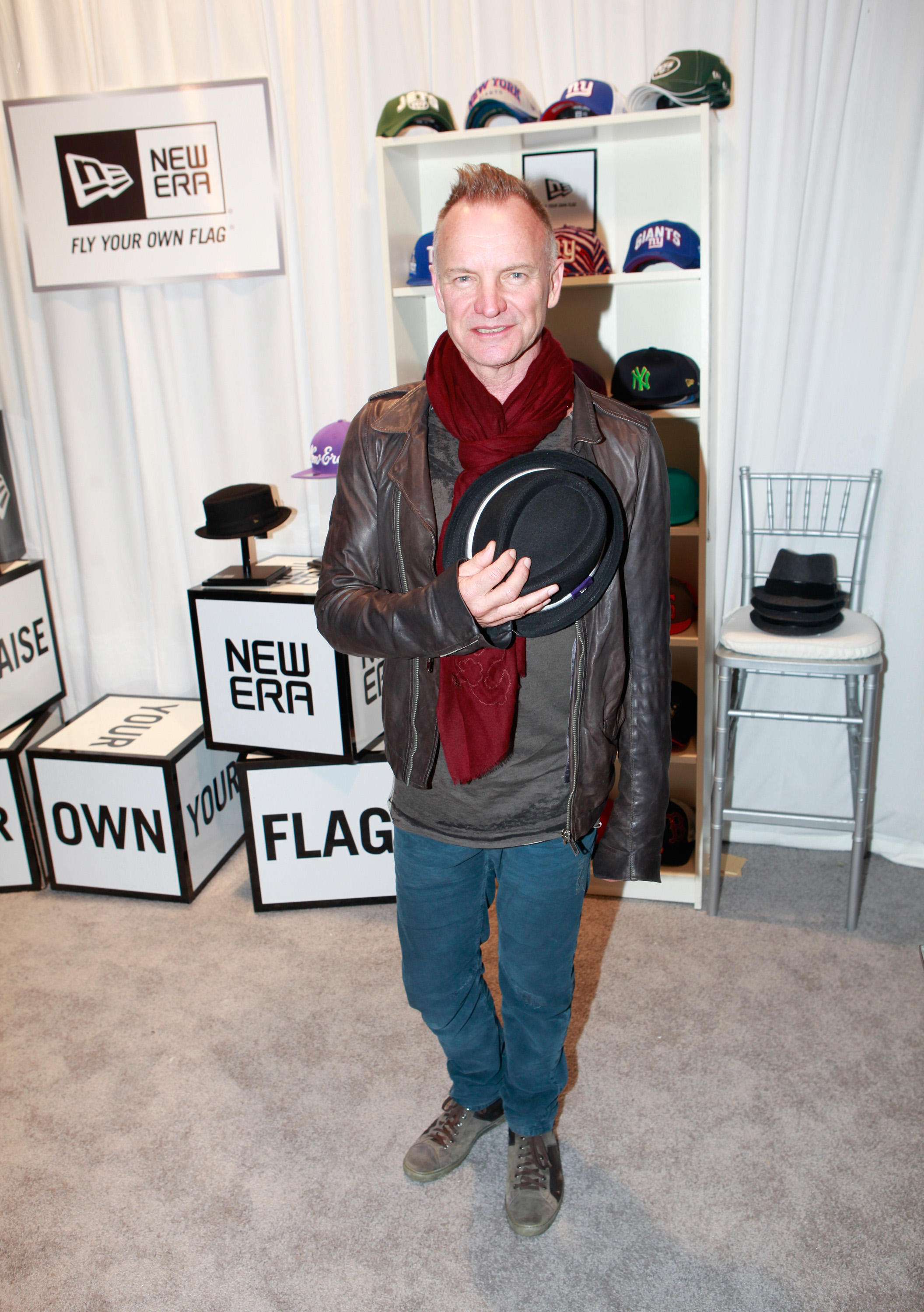 Sting peruses New Era Caps at The GRAMMY Gift Lounge, presented by MTG, in L.A. on Feb.  7.