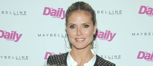 Heidi Klum, at The Daily's 10th Anniversary Dinner (which she MC-ed) at Indochine in NYC on Feb. 7.