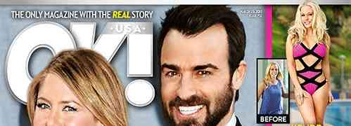 NEW 'OK!' COVER: Jennifer Aniston & Justin Theroux Alleged Wedding Details