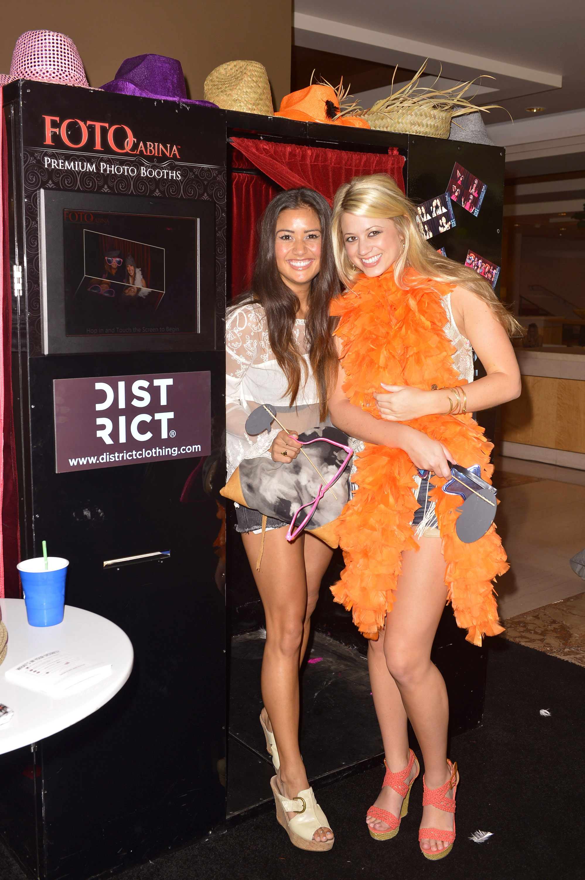 Catherine Giudici and Lesley Murphy at the Hard Rock Music Lounge Fools Gold Sunset Party April 14 in Palm Spring, Calif., during Coachella.