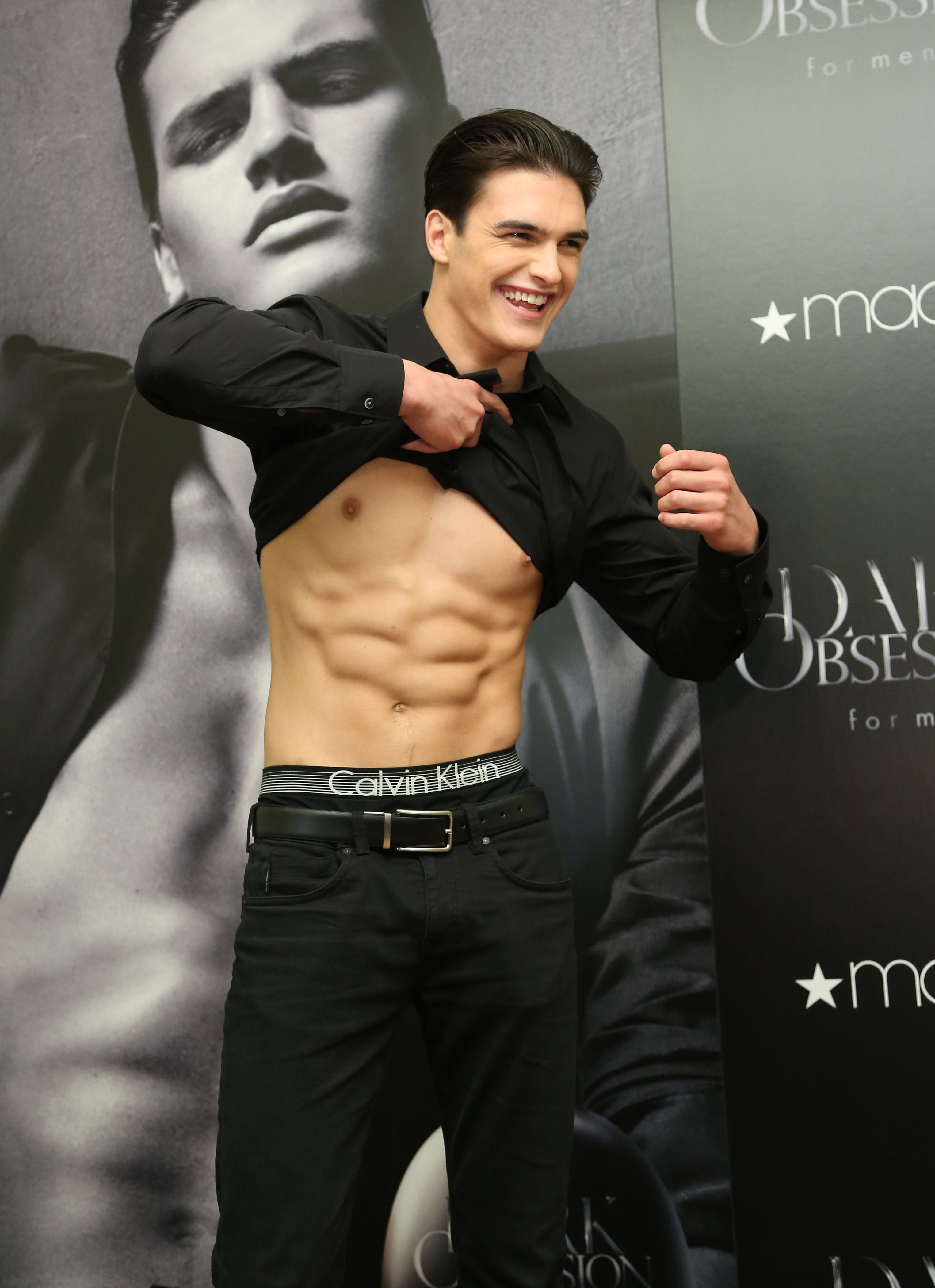 Model Matthew Terry, the face of Calvin Klein's new fragrance, DARK OBSESSION for men, reveals why he has so many screaming fans, at a meet-and-greet at Macy's Dadeland in Miami April 12.