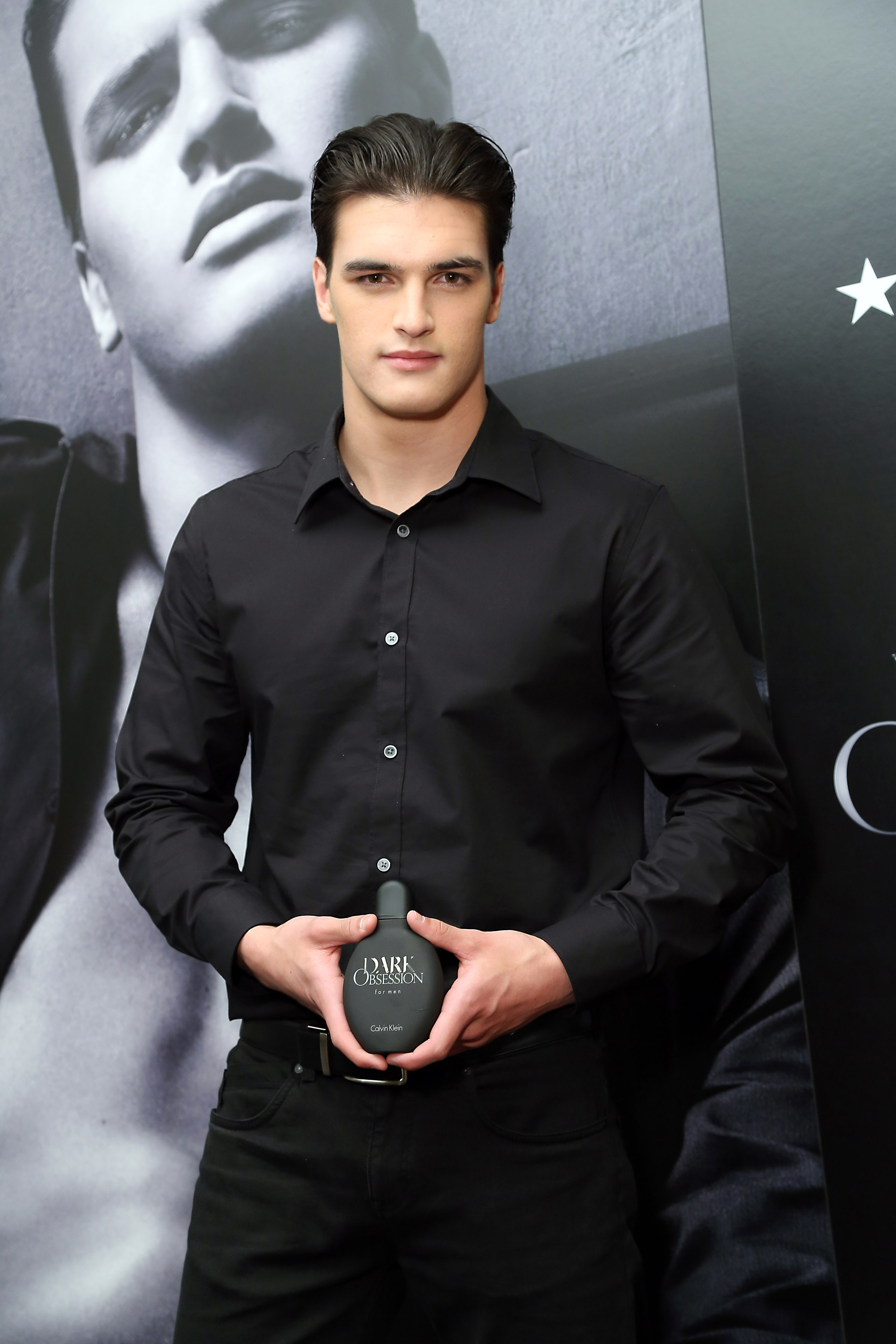Model Matthew Terry, the face of Calvin Klein's new fragrance, DARK OBSESSION for men, at a meet-and-greet at Macy's Dadeland in Miami April 12.