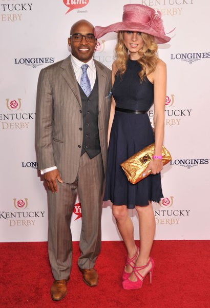 Tiki Barber at the 139th Kentucky Derby in Louisville Kentucky May 4. (Wireimage)