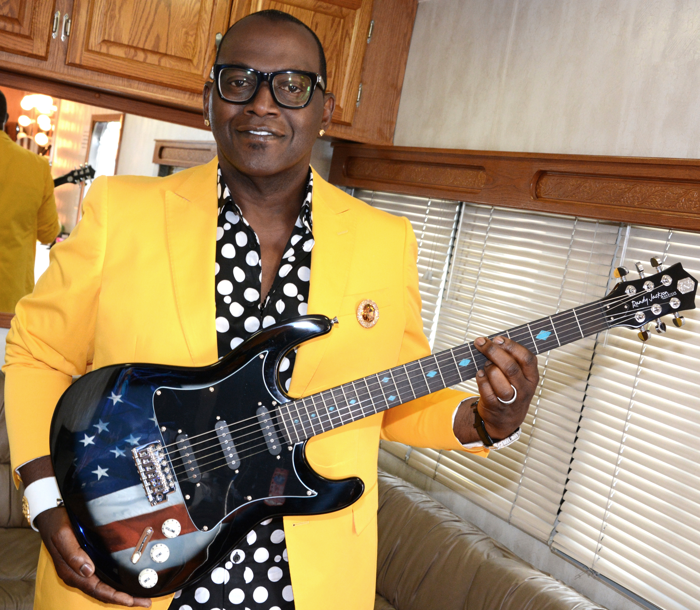 Randy Jackson with his new American Tribute Guitar, available on HSN May 25th.
