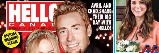 GossipDavid.com First To Publish Online: Avril Lavigne & Chad Kroeger's Wedding Photos