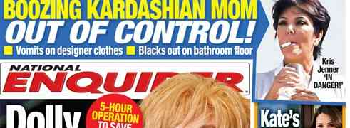 NEW 'NATIONAL ENQUIRER' COVER: Claims Kris Jenner 'Out Of Control'