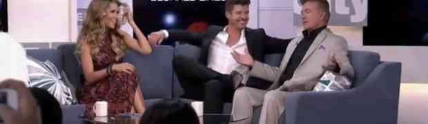 WATCH: Alan Thicke Crashes His Son Robin Thicke's Canadian TV Interview