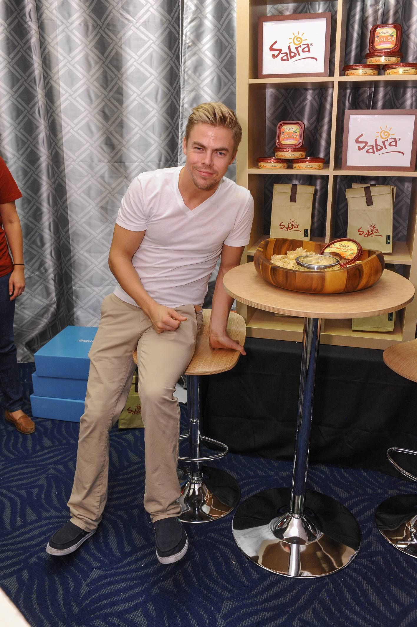 Derek Hough at the 65th Emmy Awards Giving Suite by Backstage Creations Sept. 21 in L.A. (Adrian Sidney/Invision)