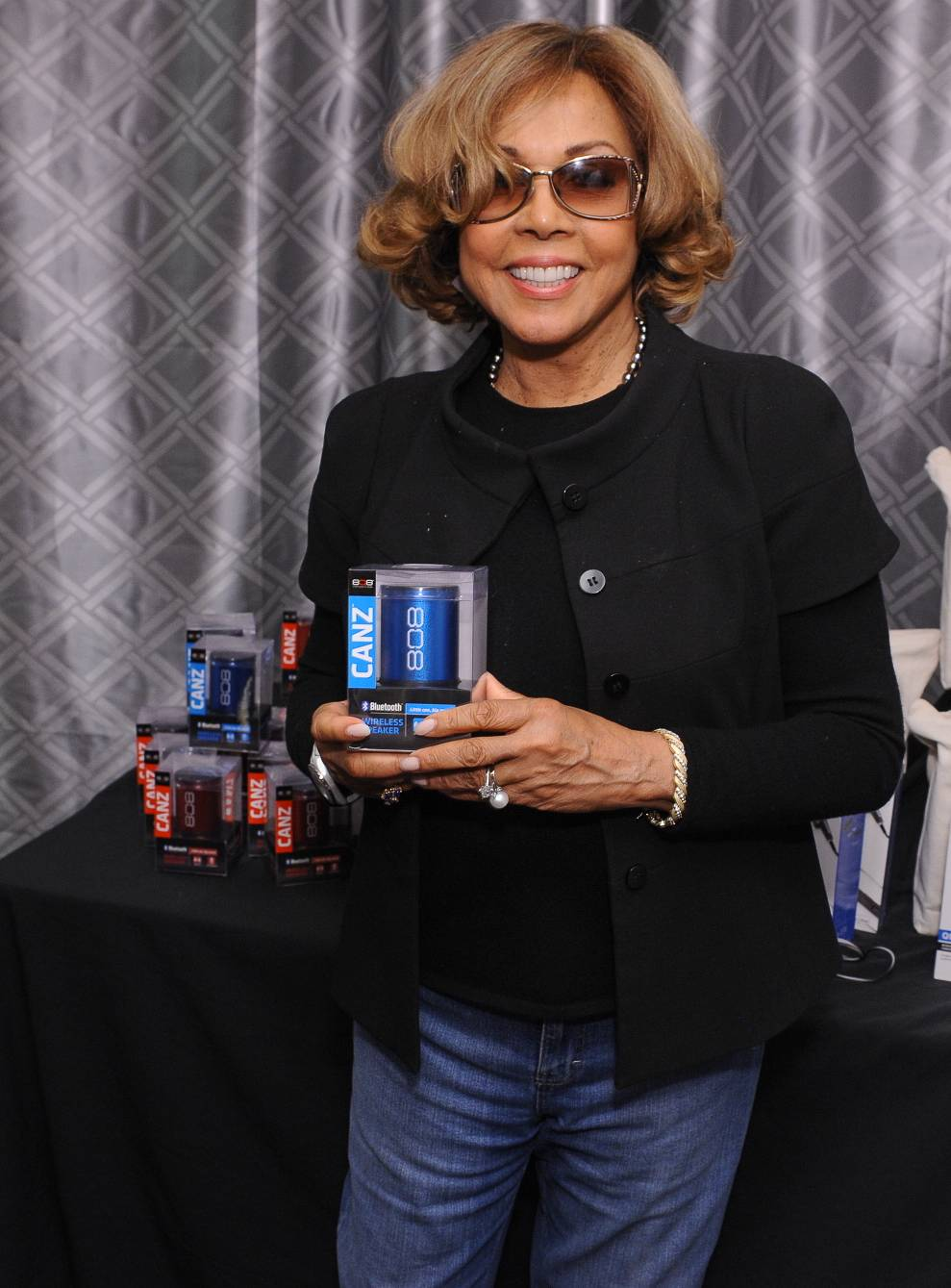 Diahann Carroll checks out 808Canz at the 65th Emmy Awards Giving Suite by Backstage Creations Sept. 21 in L.A. (Adrian Sidney/Invision)