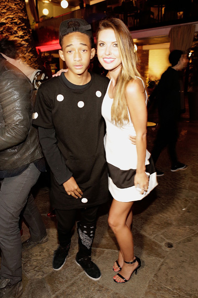 Jaden Smith and Audrina Patridge attend NYLON's annual May Young Hollywood issue at Public Kitchen and Bar at The Roosevelt Hotel May 14 in Hollywood. (Mike Windle/Getty Images)