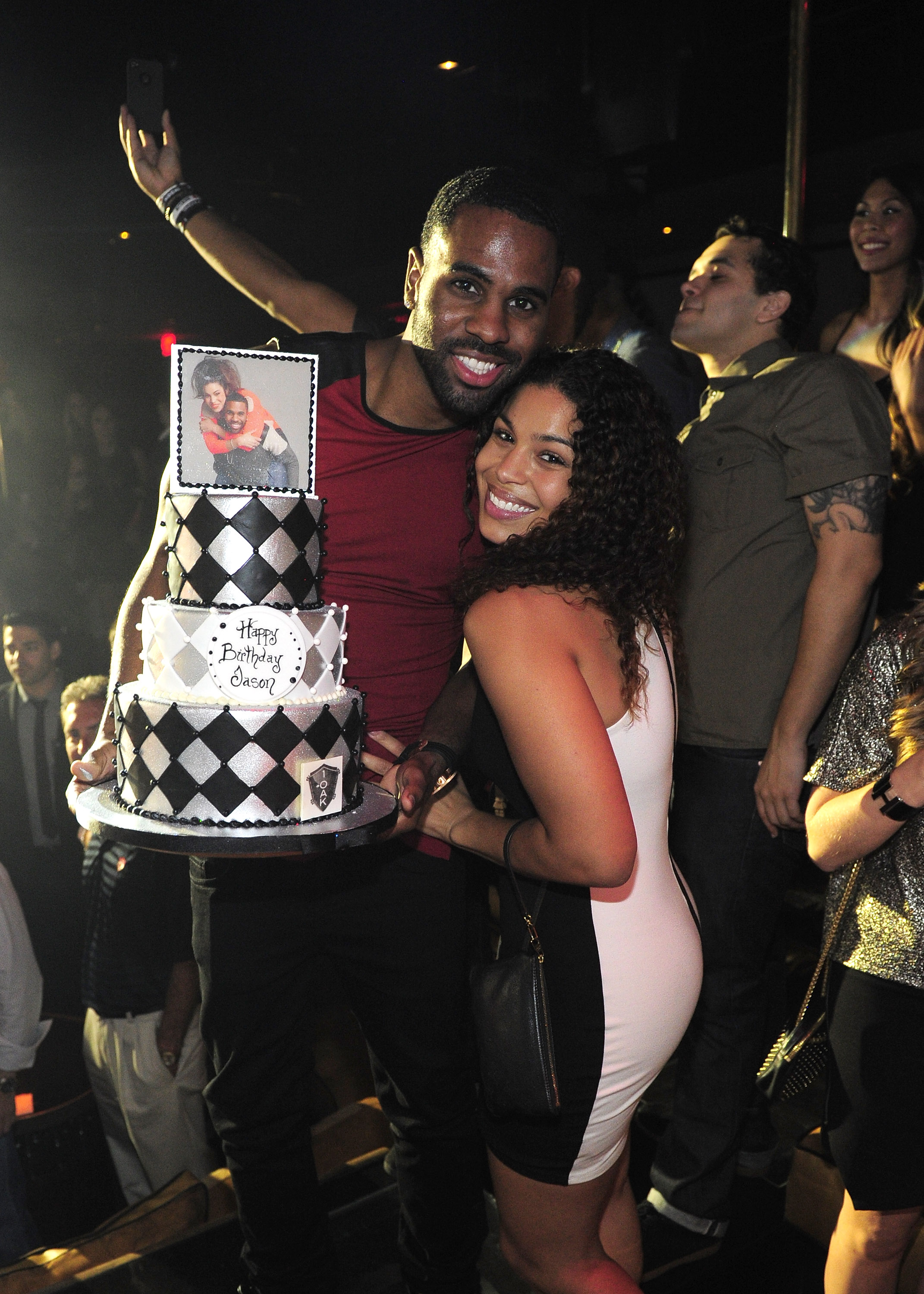 Jason Derulo celebrated his birthday with fiancée Jordan Sparks at 1 OAK Nightclub at The Mirage in Las Vegas, Sept. 21. (WireImage/Steven Lawton)