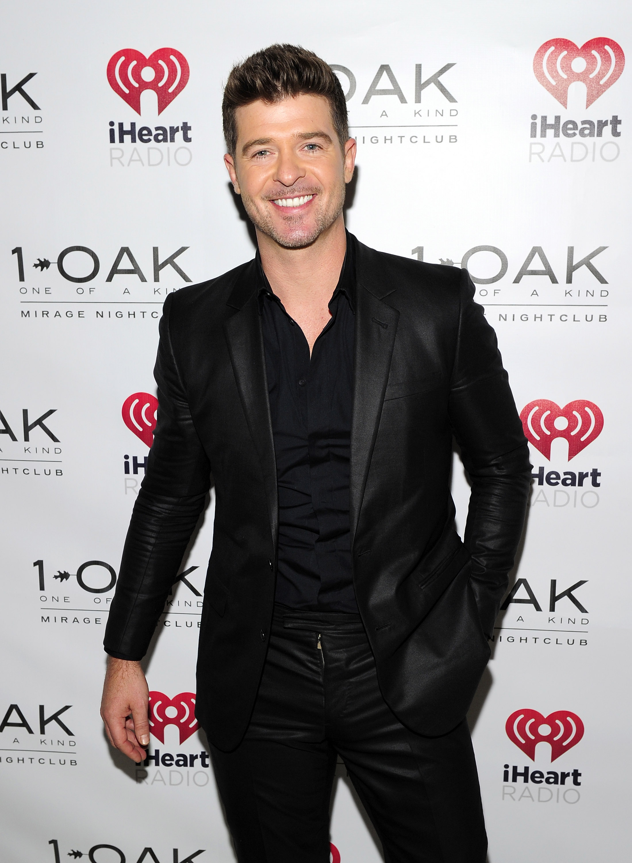 Robin Thicke at 1 OAK Nightclub At The Mirage In Las Vegas after The iHeartRadio Music Festival Sept. 20. (WireImage/Steven Lawton)