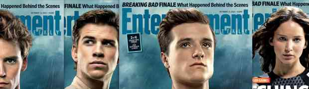 NEW 'ENTERTAINMENT WEEKLY' COVER: 'Hunger Games: Catching Fire' Stars On 4 Different Covers...Jennifer Lawrence, Liam Hemsworth, Josh Hutcherson, Sam Claflin