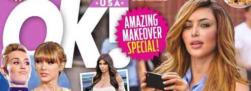 NEW 'OK!' Cover: Kim Kardashian's New Body: Exercise Or Plastic Surgery?