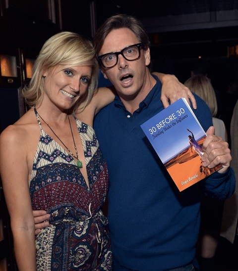 Angie Banicki and Donovan Leitch at the book launch for Angie Banicki's 30 Before 30: Travelling Under The Influence at the Spare Room at the Hollywood Roosevelt Hotel Nov. 6.