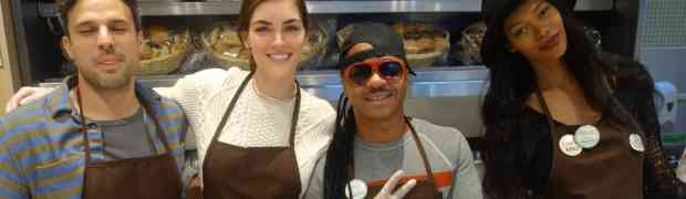 PHOTOS: Glamazons Hilary Rhoda & Jessica White Feed Homeless New Yorkers For Thanksgiving