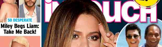 NEW 'IN TOUCH' COVER: CLAIMS O.J. Simpson Is Khloe Kardashian's Father