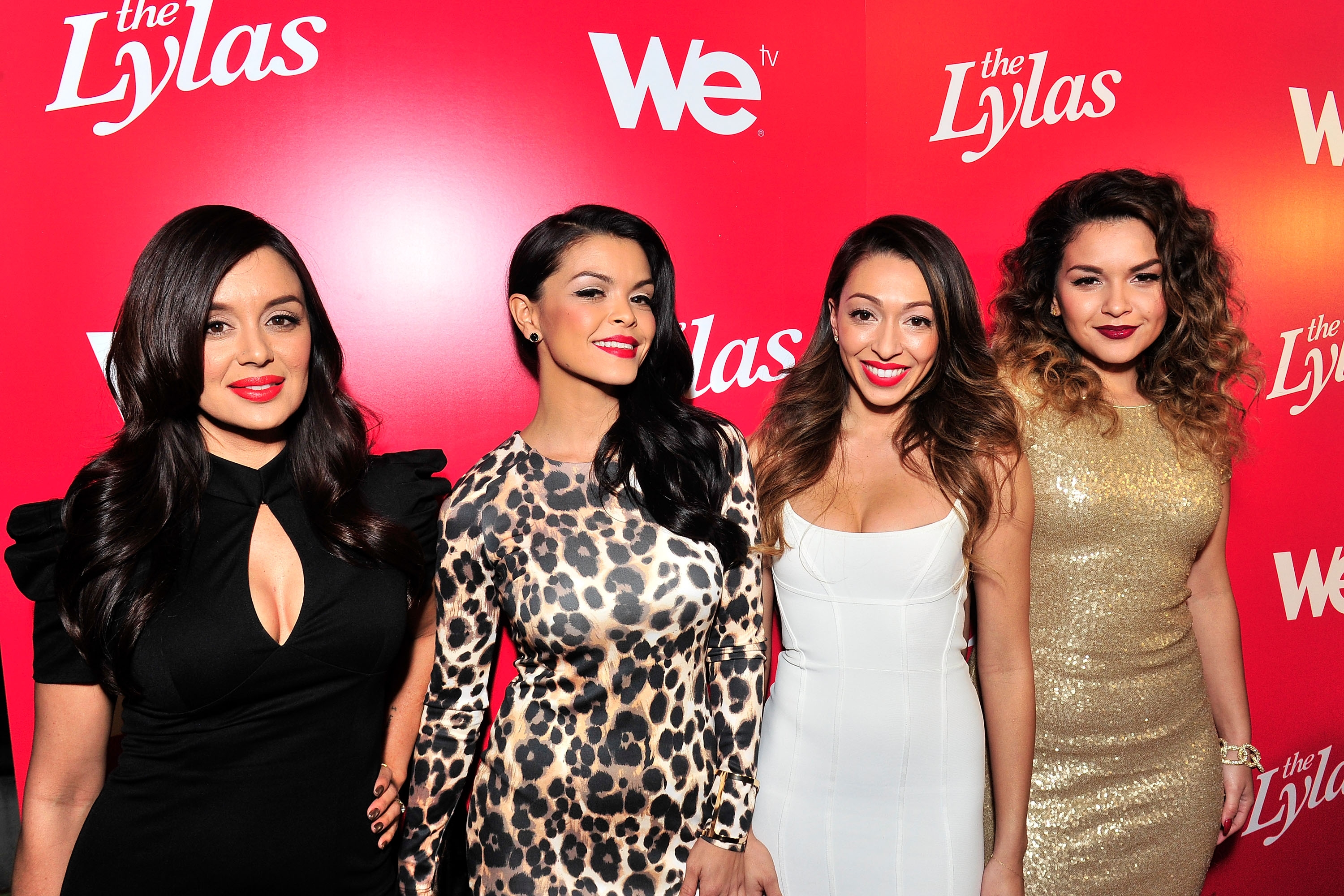 Jaime Bayot, Tiara Hernandez, Presley Hernandez and Tahiti Hernandez of the LYLAS at WE tv's Celebration for The Premiere Of  The LYLAS at the Warwick in Hollywood Nov. 7. (Jerod Harris/WireImage)