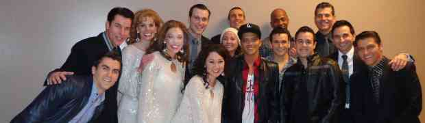 NEW PHOTO: Bruno Mars' Backstage Visit With Las Vegas Cast Of 'Jersey Boys'