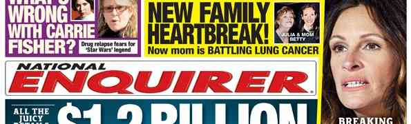 New 'National Enquirer' Cover: Who's Divorcing — Who's ThisClose To Divorcing