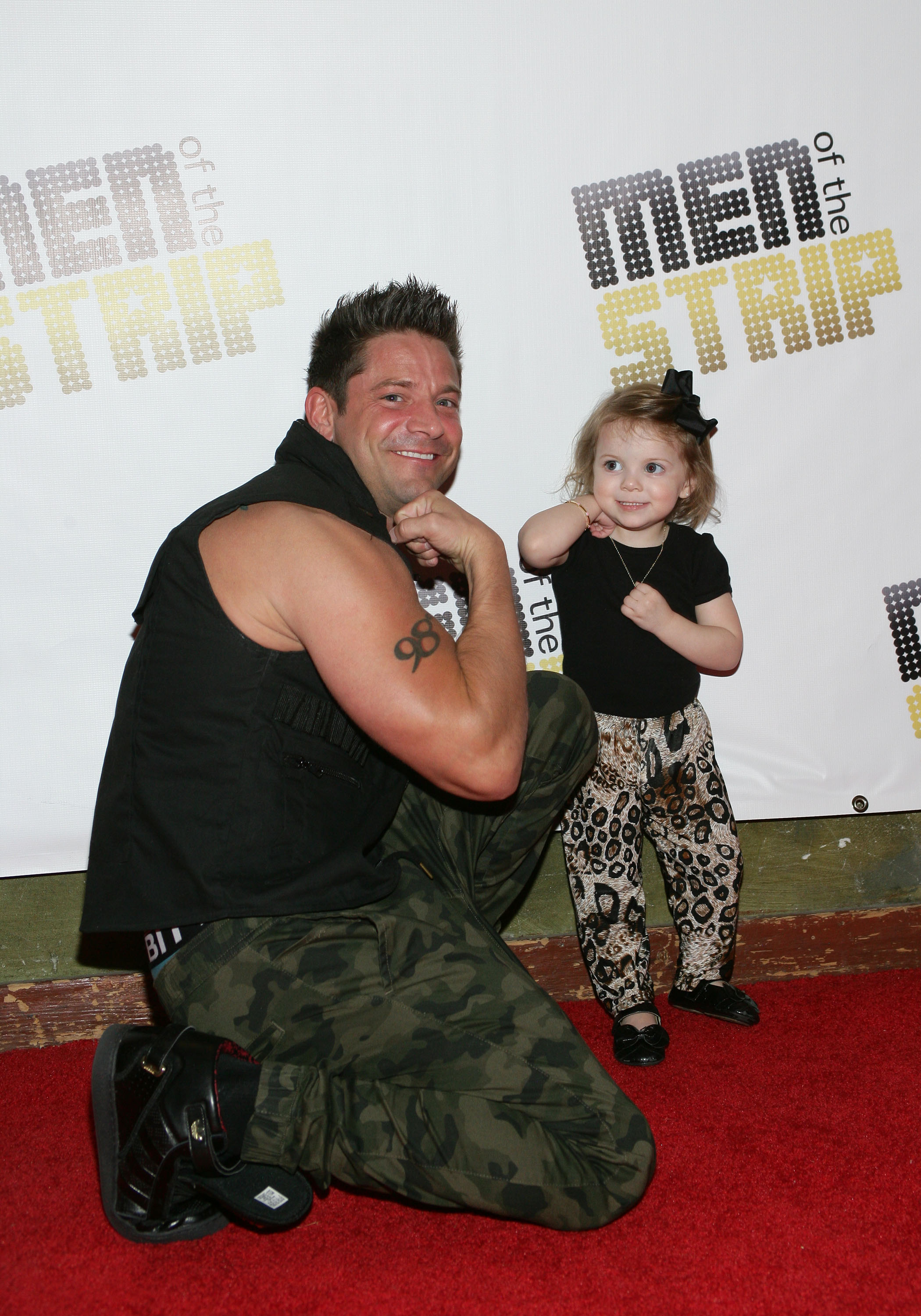 "Jeff Timmon of  ""Men of the Strip"" fame with his daughter Ariahuna, at House of Blues at Mandalay Bay in Las Vegas on March 29."