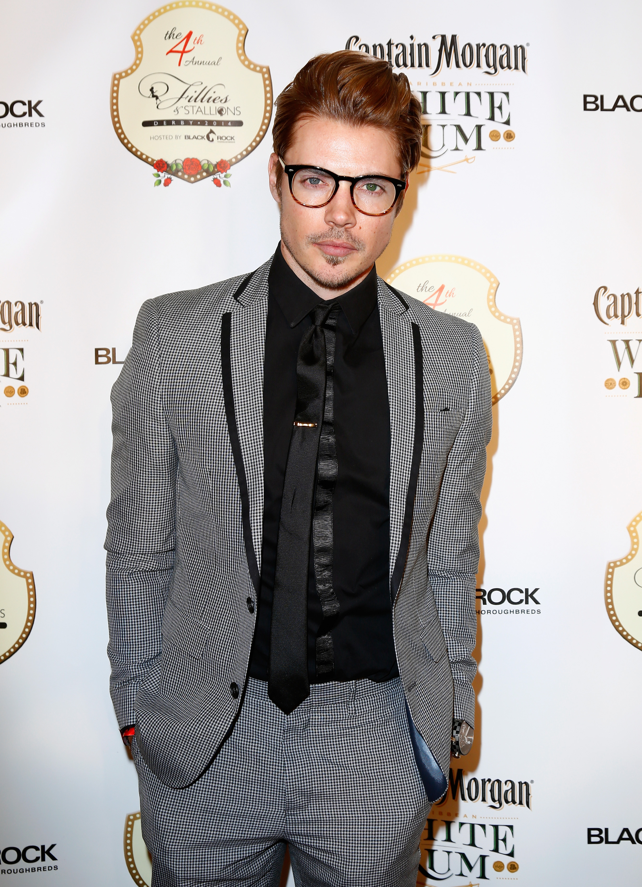 Actor Josh Henderson attends the Fourth Annual Fillies & Stallions party sponsored by Captain Morgan White Rum at Mellwood Arts Center on May 2, 2014 in Louisville, Kentucky.  (Photo by Michael Hickey/Getty Images for Captain Morgan White)