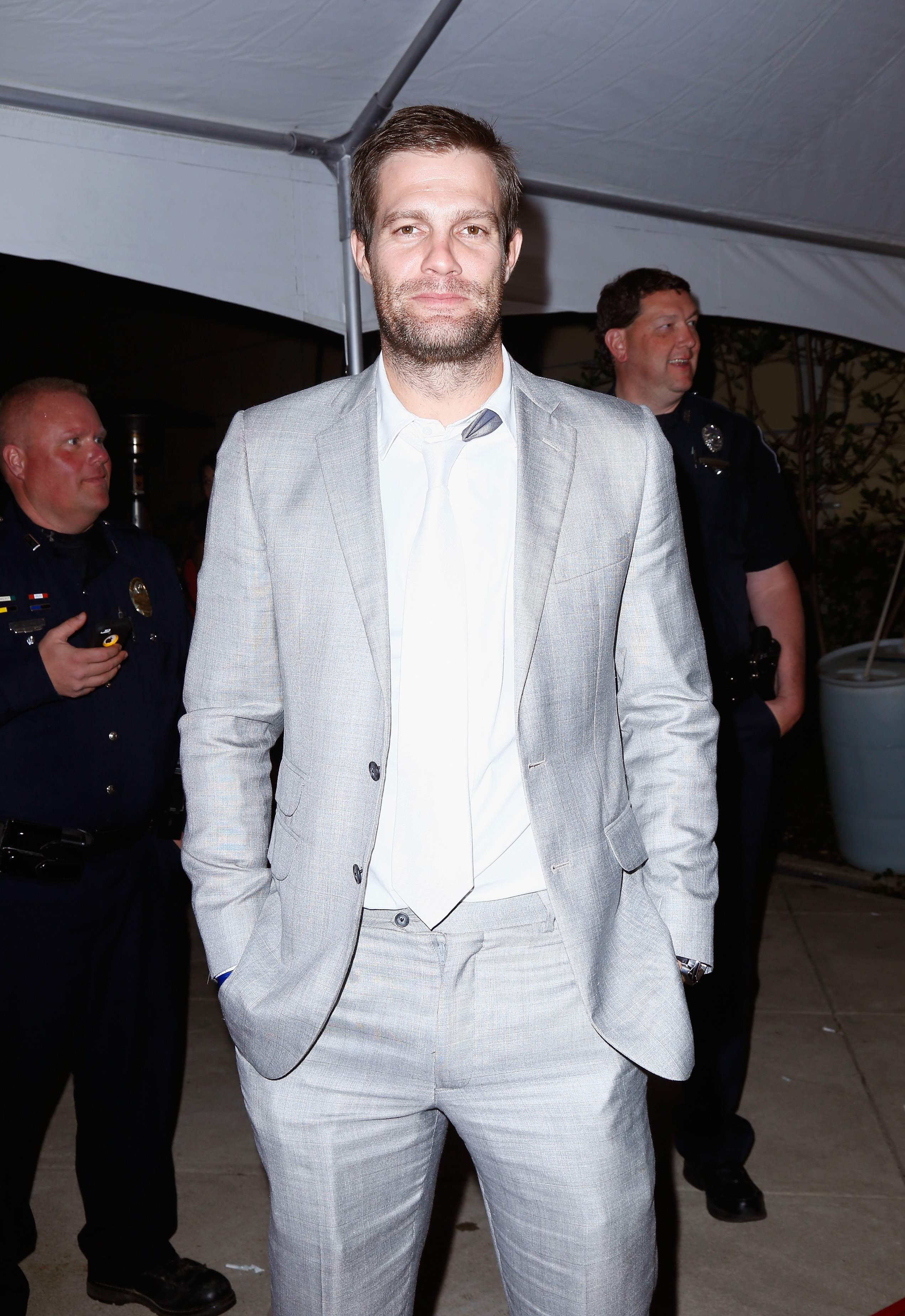 Actor Geoff Stults attends the Fourth Annual Fillies & Stallions party sponsored by Captain Morgan White Rum at Mellwood Arts Center on May 2, 2014 in Louisville, Kentucky.  (Photo by Michael Hickey/Getty Images for Captain Morgan White)