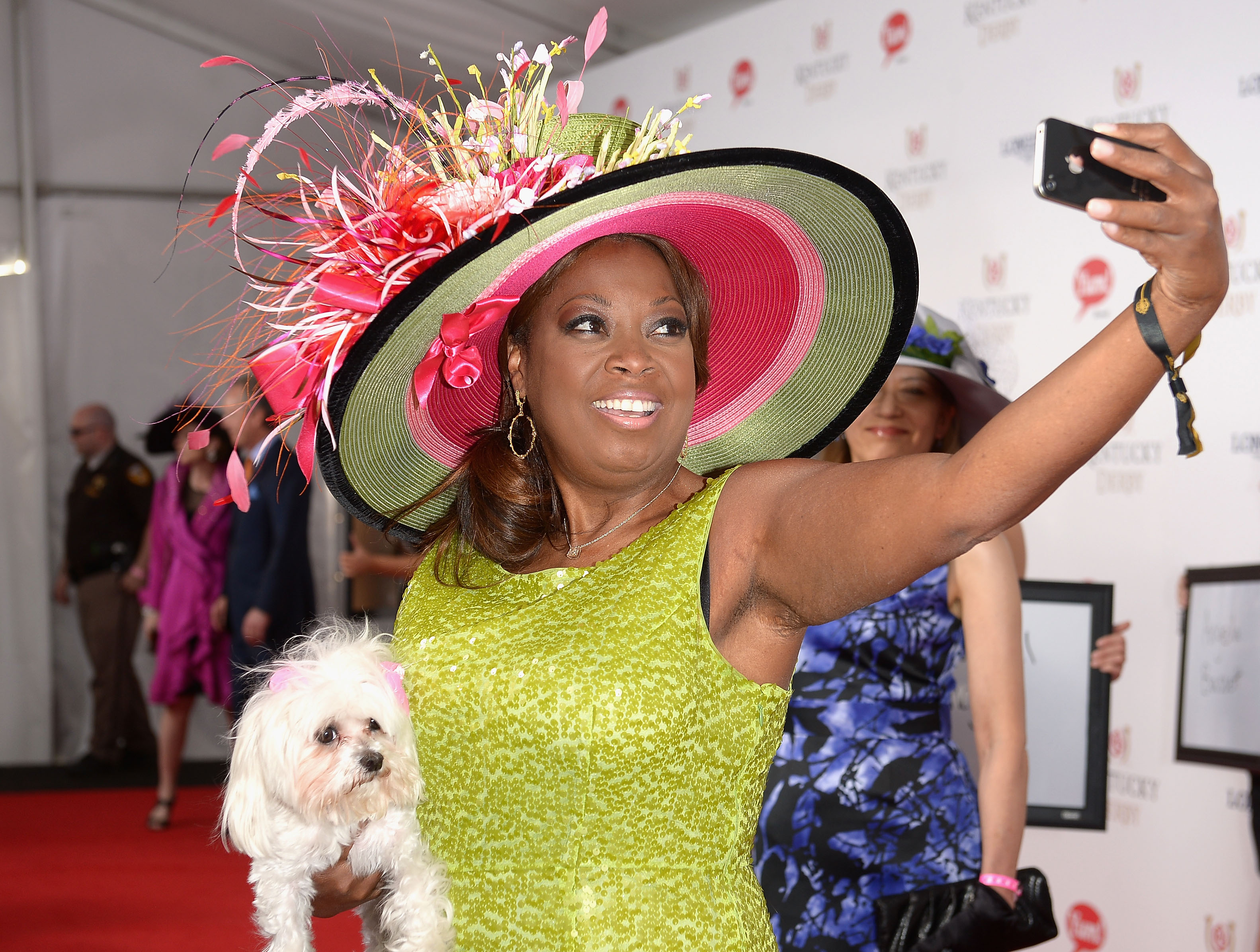 Star Jones attends 140th Kentucky Derby at Churchill Downs on May 3, 2014 in Louisville, Kentucky.  (Photo by Gustavo Caballero/Getty Images for Moet & Chandon)