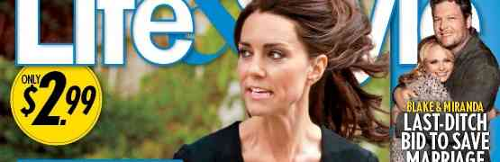 New 'Life & Style' Cover: Kate Middleton Pregnant? And Only 98 Lbs.?