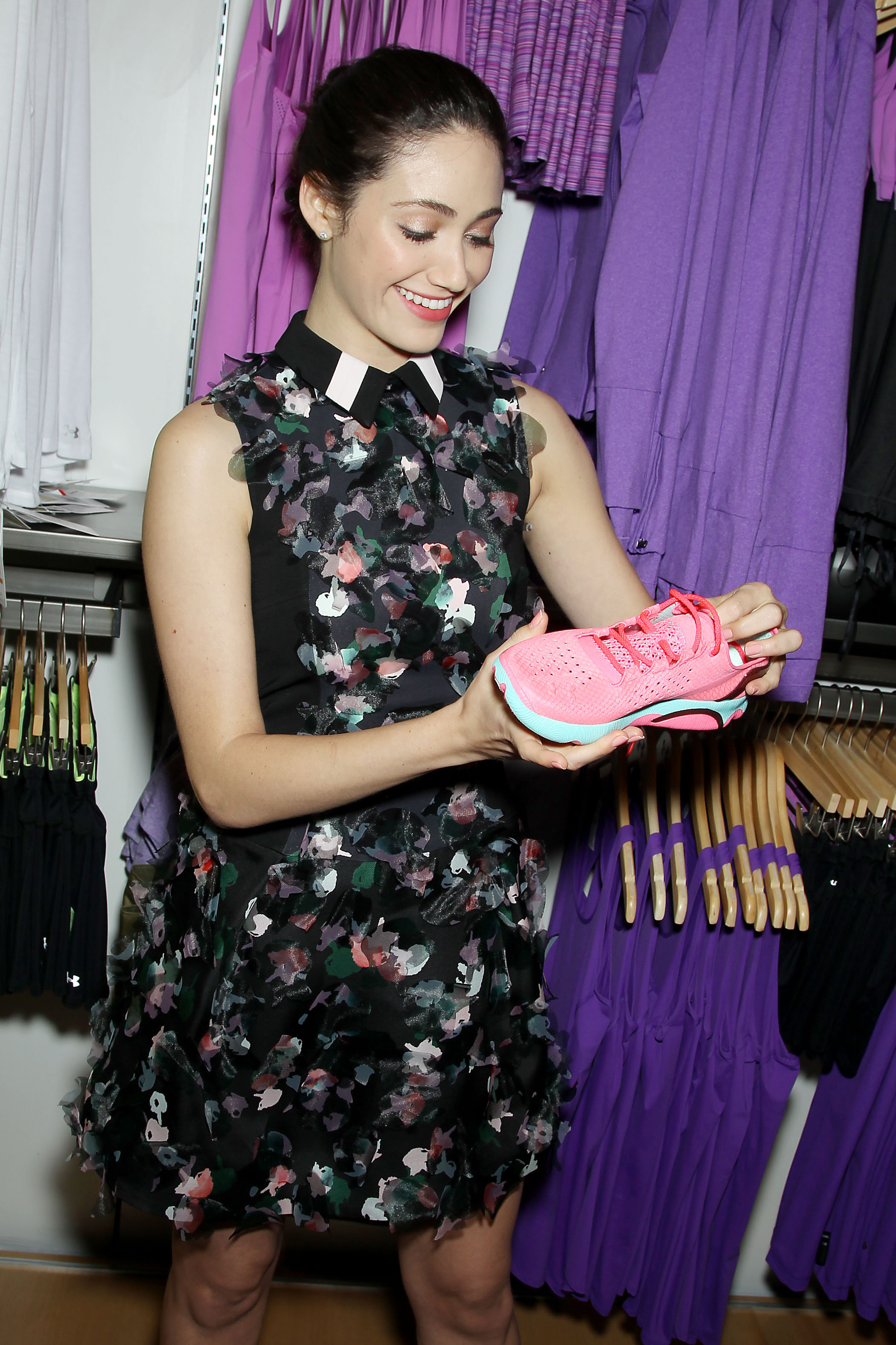 Emmy Rossum at the Under Armour NYC  Brand House Grand Opening Event on April 29. (Marion Curtis/Starpix)
