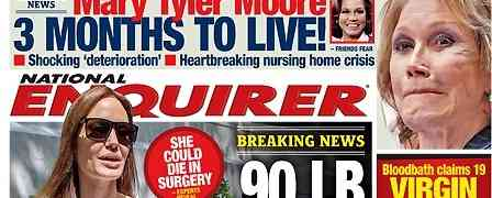 New 'National Enquirer' Cover: Claims Angelina Jolie 90 lbs.